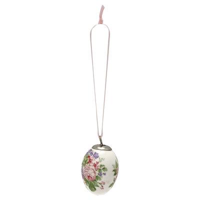 GreenGate Decorative egg Rose white set of 2 ass hang