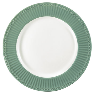 GreenGate Everyday Alice Dinerbord Alice Dusty Green D: 26,5 cm
