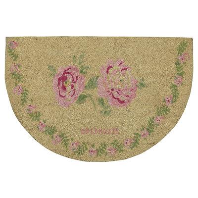 GreenGate Doormat  Lily petit white  half round 40x60cm