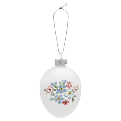GreenGate Egg Ornament Hanging Meryl White H: 9cm