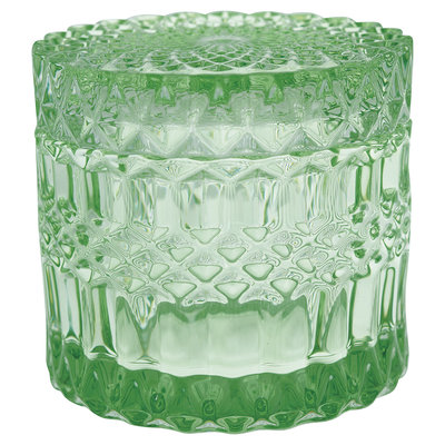 GreenGate Glass Jar Round green small H:10cm