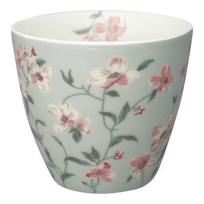 GreenGate Stoneware Latte Cup Jolie Pale Mint H: 9cm