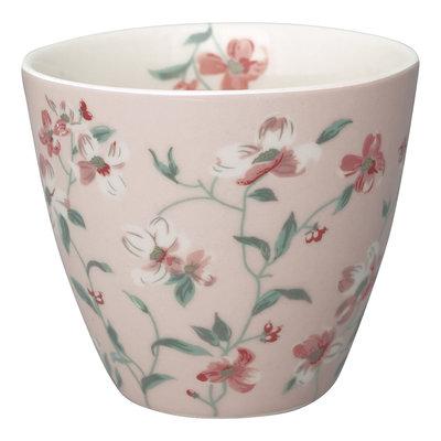 GreenGate Stoneware Latte Cup Jolie Pale Pink H: 9cm