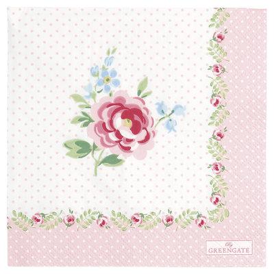 GreenGate Paper Napkin Lily petit white small 20pcs