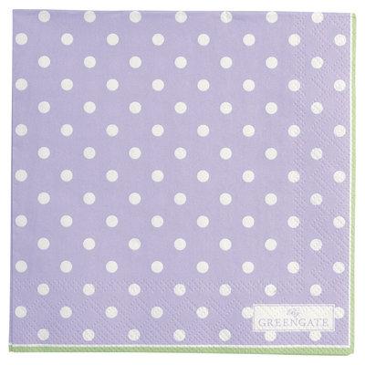 GreenGate Paper Napkin Spot Lavendar small 20pcs