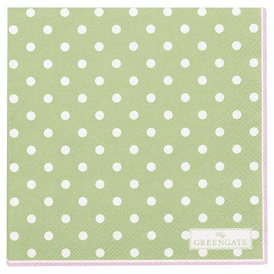 GreenGate Paper Napkin Spot Pale Green small 20pcs