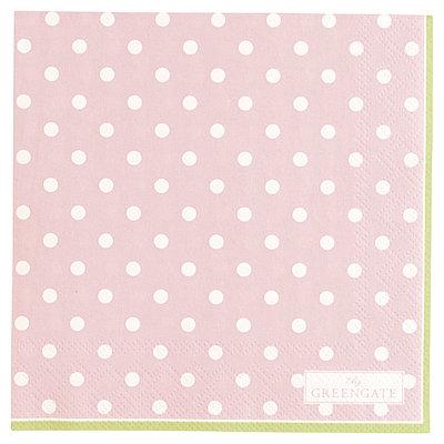 GreenGate Paper Napkin Spot Pale Pink small 20pcs