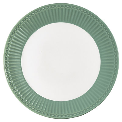 GreenGate Everyday Alice Plate Alice dusty green D:23cm