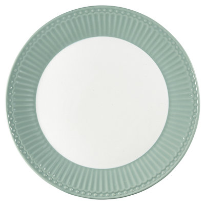 GreenGate Everyday Alice Plate Alice dusty mint D:23cm