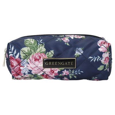 GreenGate Nylon Pouch Rose dark blue 6x5x18cm