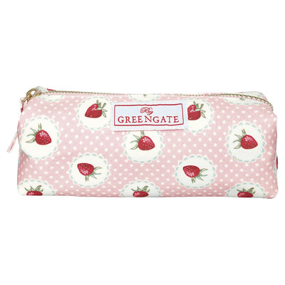 GreenGate Pouch Strawberry Pale Pink 4,5x4,5x17,5cm