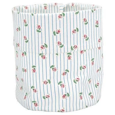 GreenGate Cotton Storage bag Lily petit white medium H:28cm