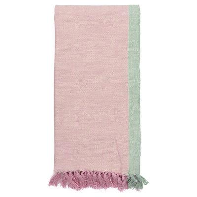 GreenGate Throw Minna pale pink 130x180cm