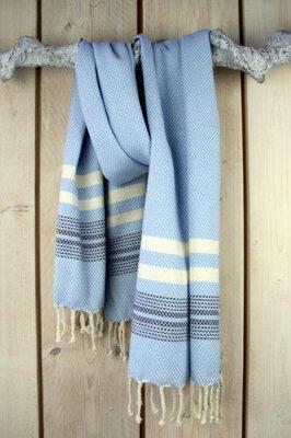 Hamamdoek Bazar Serenity Blue/Dark Blue/White