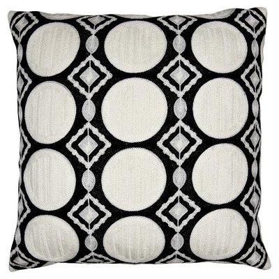 Gate Noir Cushion Circle black embroi.allover 50x50cm GN