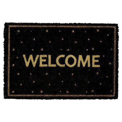 Gate Noir by GreenGate Doormat black w/welcome GN 40x60cm