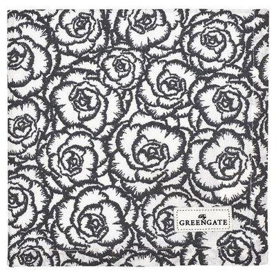 GreenGate Cotton Napkin Blossom grey GN  40x40cm