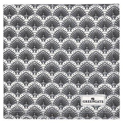 GreenGate Cotton Napkin Elvina grey GN  40x40cm