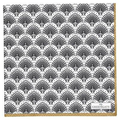 GreenGate Paper Napkin large Elvina gold 20pcs GN