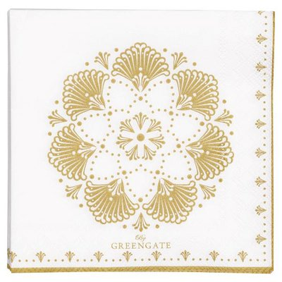 GreenGate Paper Napkin small Elvina gold 20pcs GN