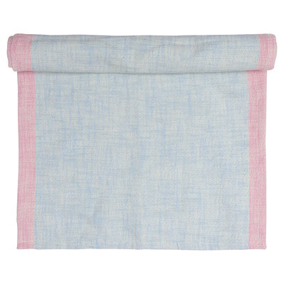 GreenGate Cotton Table runner Minna Pale Blue 40x120cm
