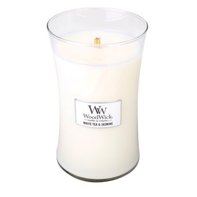 White Tea & Jasmine Geurkaars Large WoodWick® HearthWick®
