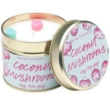 Bomb Cosmetics Geurkaars Coconut Mushroom Tinned Candle