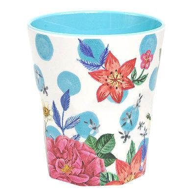 Ginger Lifestyle Melamine Mok M Summer Blossom Blue Dots