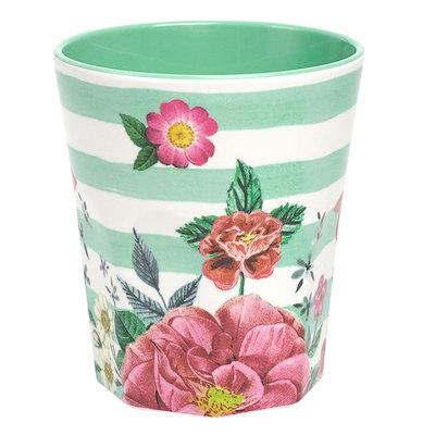 Ginger Lifestyle Melamine Mok M Summer Blossom Green Stripes