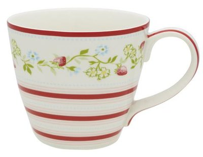 GreenGate Stoneware Gloria White Tea Mug Limited Edition H: 9cm