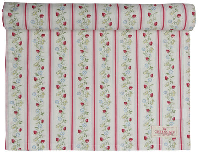 GreenGate Cotton Table runner Gloria White Limited Edition 45x140cm