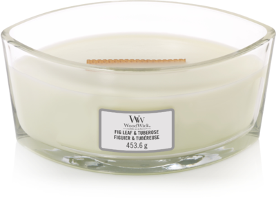 WoodWick® HearthWick® Fig Leaf & Tuberose Ellipse