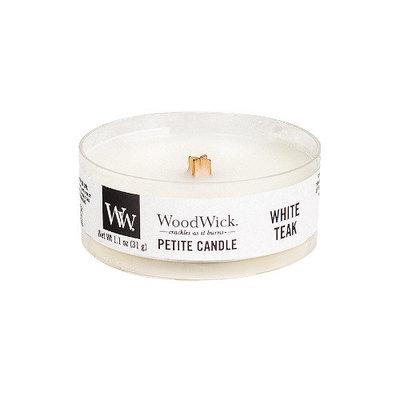 WoodWick White Teak Petit Travel Candle