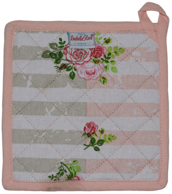 Isabelle Rose Potholder Alice Pink