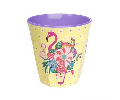 Ginger Lifestyle Melamine Mok M Pink Flamingos Yellow