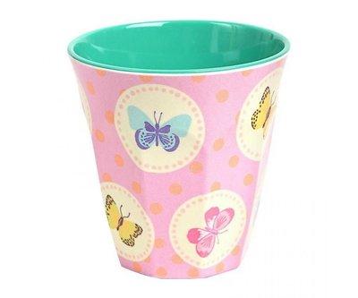 Ginger Lifestyle Melamine Mok M Happy Butterflies Pink