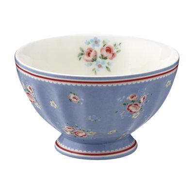 GreenGate Cereal Schaaltje / French bowl medium Nicoline Dusty Blue D:10cm