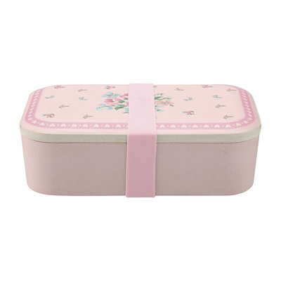 GreenGate Bamboo Lunch box Nicoline Pale Pink 6,5x12,8x19,6cm