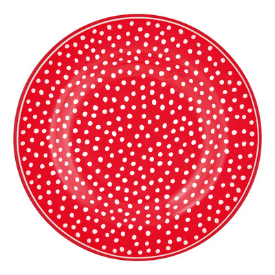 GreenGate Gebaksbordje / Small Plate Dot red D: 15cm