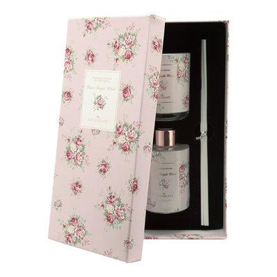 GreenGate Cadeauset Scented Candle & Diffuser Aurelia white