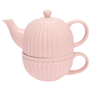GreenGate Everyday Alice Tea for One Alice Pale Pink H 15 cm