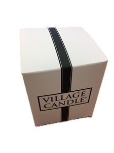 Village Candle White & Black Giftbox Large