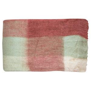 GreenGate Woondeken F/Blanket_Wohndecke_Check_Coral_125x150cm