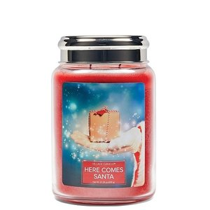 Village Candle Here Comes Santa 737gr Large Candle Sfeer Scent