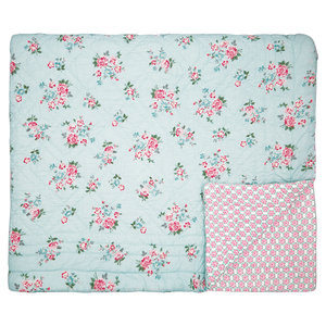 GreenGate Sonia Pale Blue Quilt / Bed cover  180x230cm