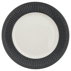 GreenGate_Alice_Dark_Grey_Dinnerplate_Essteller_Dinerbord