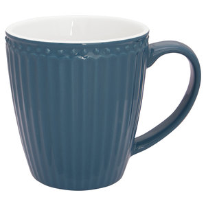 GreenGate Mok / Mug Alice Ocean Blue H: 9,5 cm