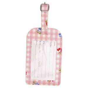 GreenGate_Viola_Check_Pale_Pink_Adres_Label_Luggage_Tag