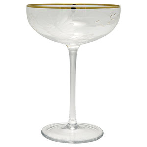 GreenGate-Champagne-Glass-Clear-Gold