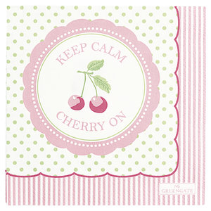 GreenGate-Paper-Napkin-Cherry-Berry-Pale-Green-Small